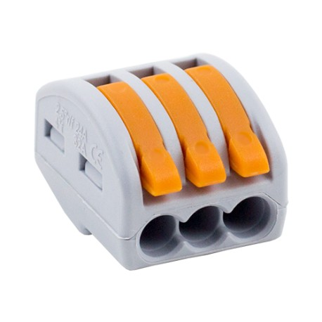 Conector derivatie tip WAGO 3 fire (10 buc.) W-413